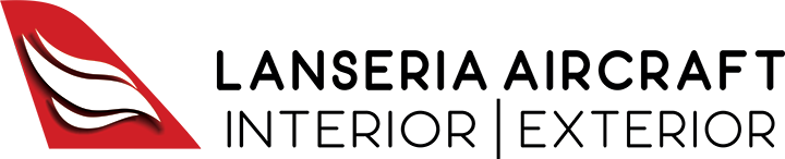Lanseria Aircraft Interior & Exterior Refurbishment logo with black text
